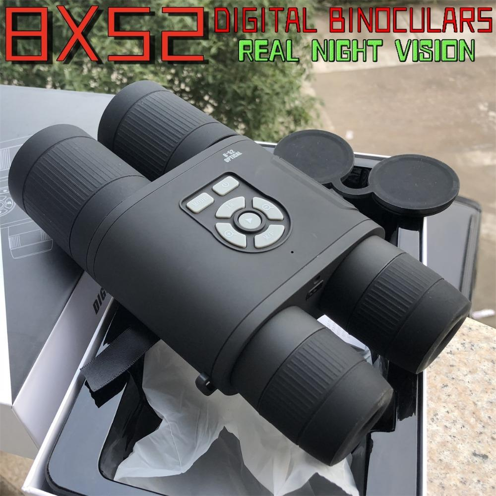 Digital Optical 8x52 Telescope Real Night Vision Binoculars High Clarity binocular Spotting scope Hunting sports large eyepiece
