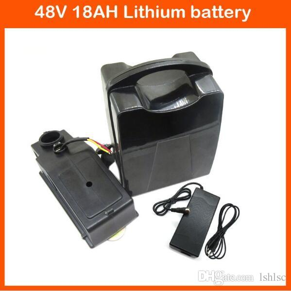 E-Bike Battery 48V 18Ah 30A BMS For Bafang BBS Motor 1000W Kit Lithium Battery 48V With 2A Charger Electric Bike Battery 48V
