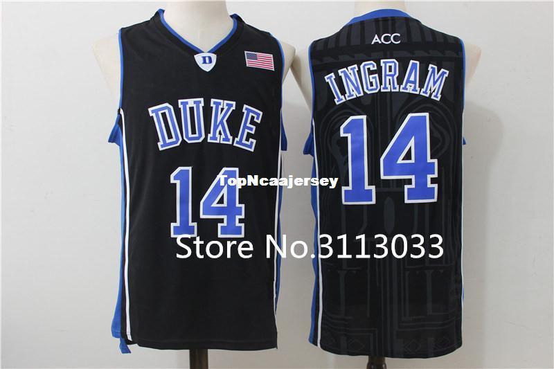 3c7082af5b47 Großhandel Brandon Ingram   14 Duke Blue Devils College Oberes  Basketballtrikot Genähte XS 6XL Weste Trikots NCAA Von Topncaajersey