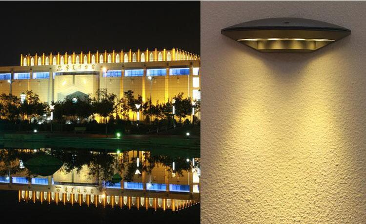 8pcs/lot 4*3w Outdoor Waterproof 12W Led Wall Lamps AC 110V 220V 230V 240V Stairs Gate Villa Hotel Terrace Lamp Garden Lights