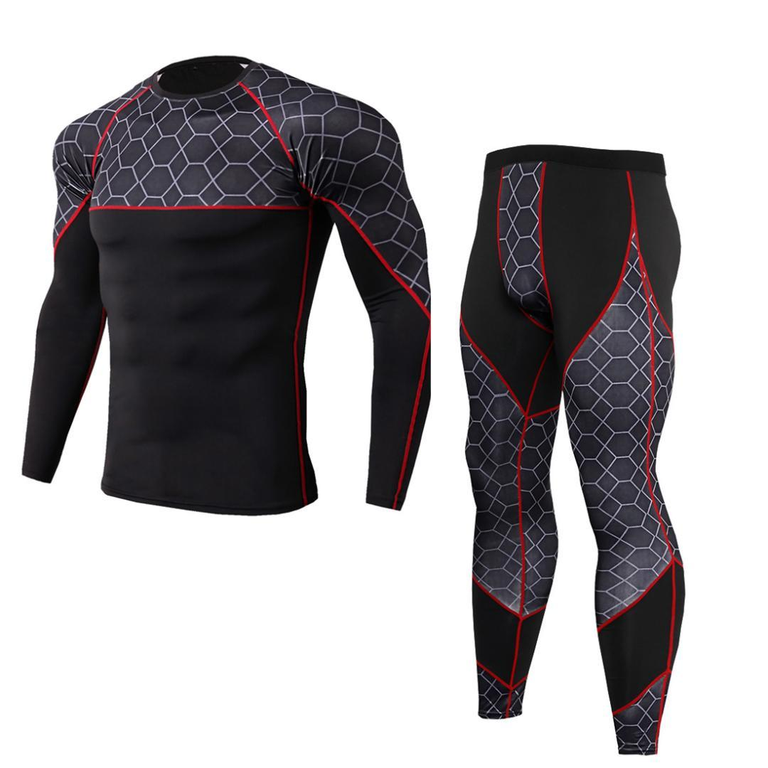 8b19ccec36c 2018 New Compression Men s Sport Suits Quick Dry Running Sets Sports ...