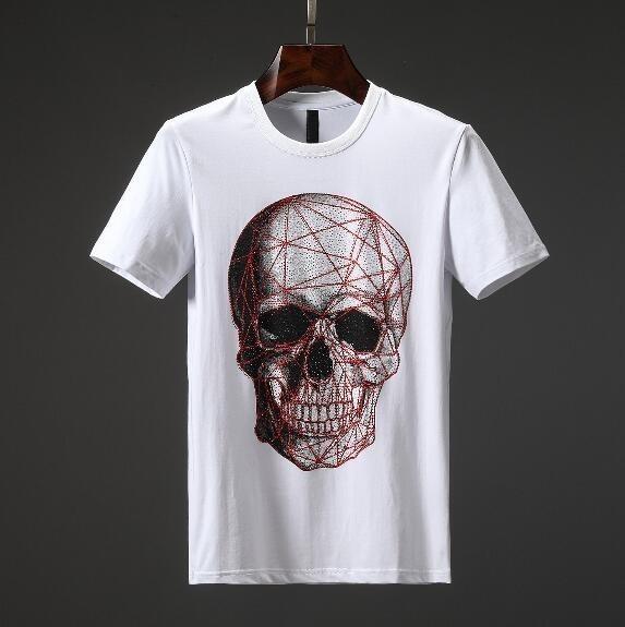 2019 men T-shirts fashions Straight Ripped holes Straps Denim Bike Slim Fit  black and white colour A-L20