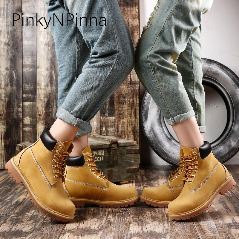 2019 New Flat Ankle Desert Boots Man Lace Up Round Toe Sewing