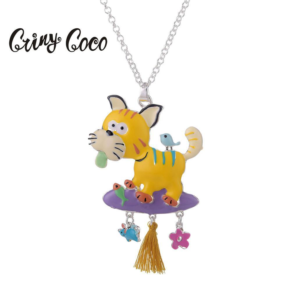 Cute Dog Animal Choker Silver Color Chain Necklace Women Long 2019 Metal Alloy Statement Pendants Chokers Necklaces for Girls