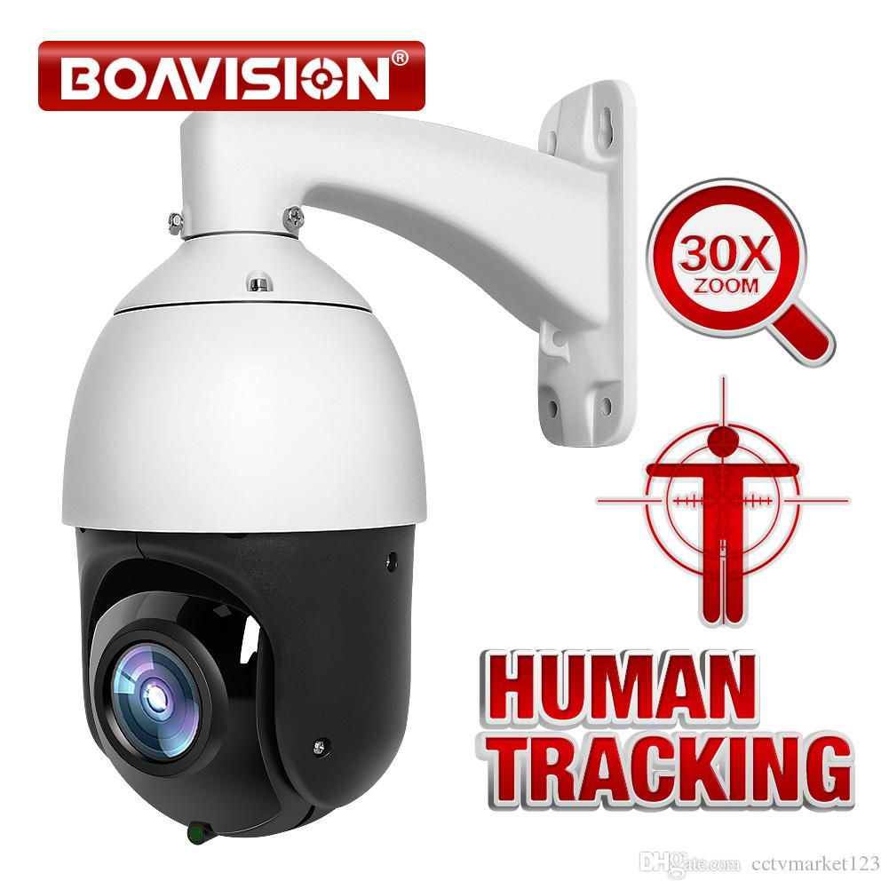 AI Auto Tracking PTZ IP Camera POE 30X Zoom 1080P H 265 AI Human Body Face  Zooming Programing Presets Patrolling Outdoor IR 80M