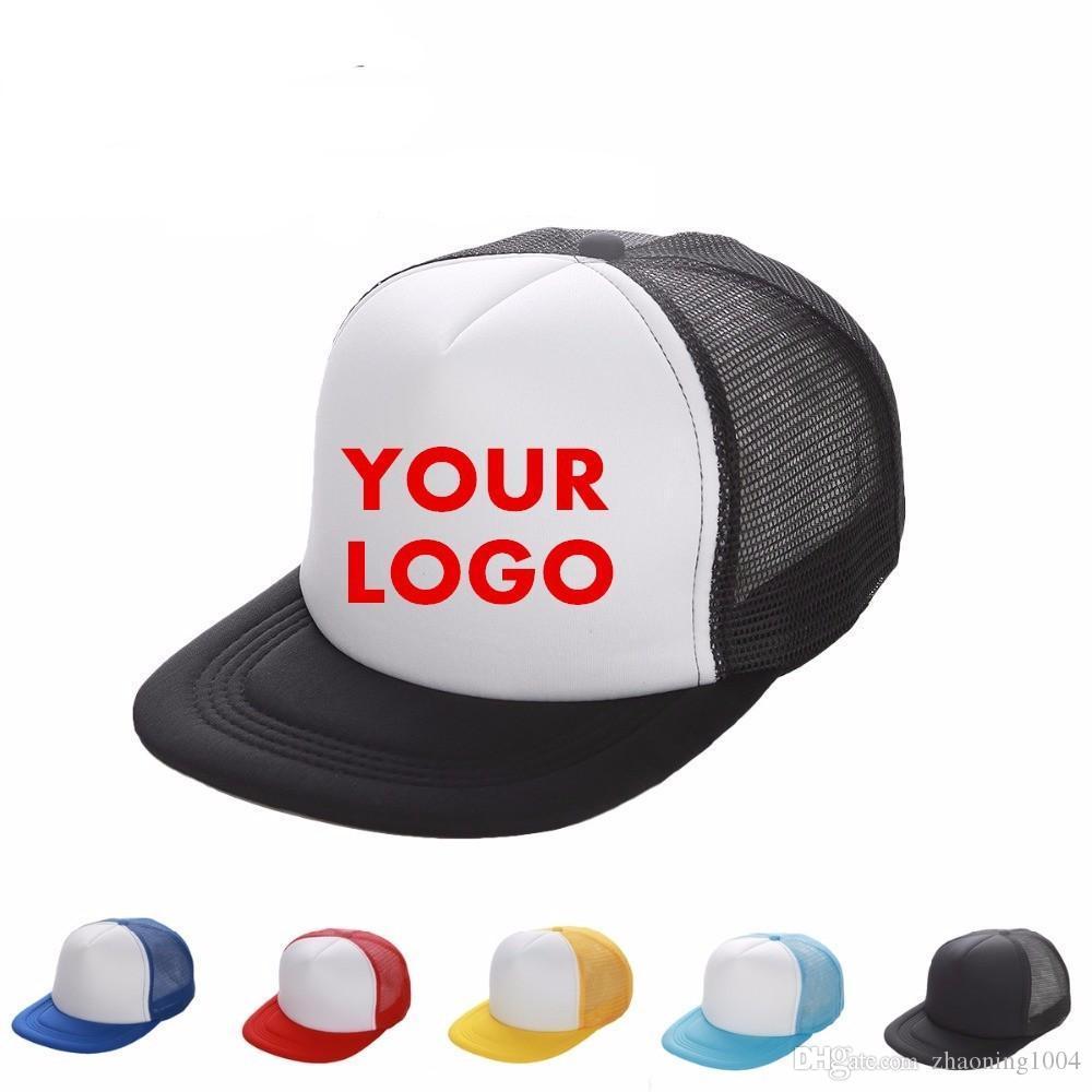 Trucker Caps Custom Printing Logo Hip Hop Blank Mesh Hats Adjustable  Snapbacks Personalized Gorras For Adults Children Sun Visor