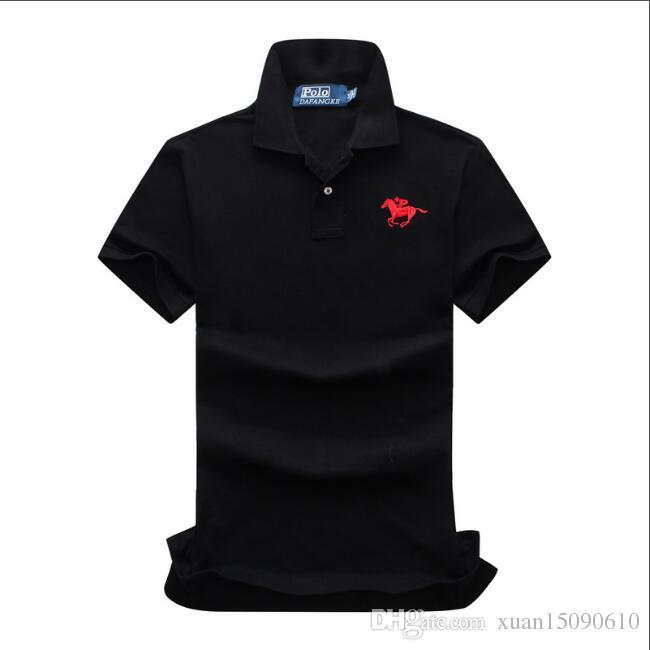 d72b596a1 Men s POLO shirt business golf sport half sleeve cotton horse embroidery  short sleeve t shirt men s wear