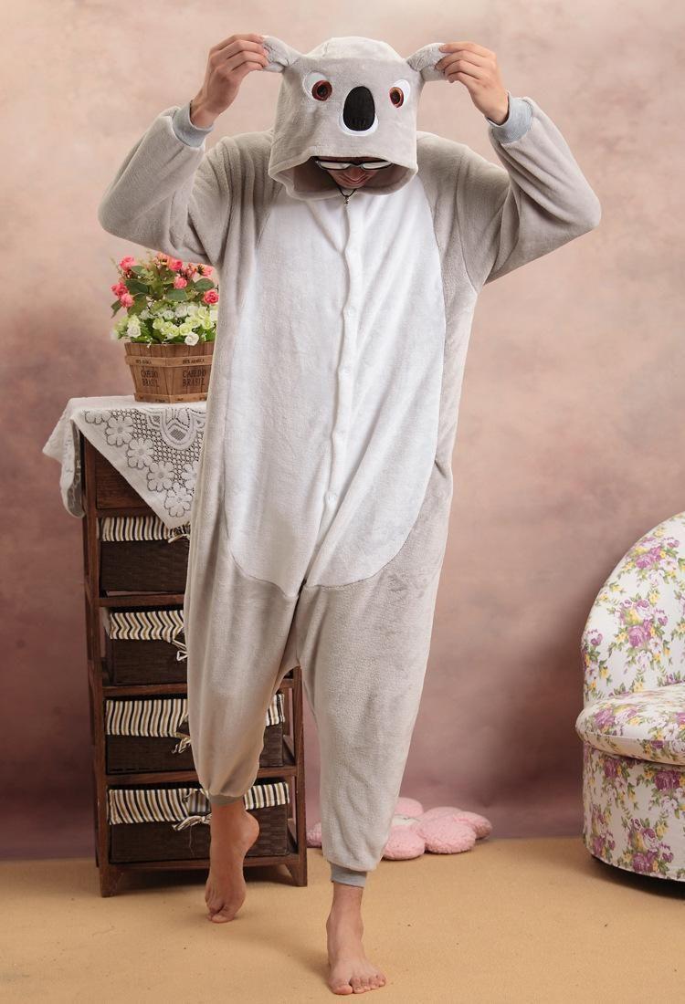 Koala Unisex Adults Casual Flannel Hooded Pajamas Cosplay Cartoon Cute  Animal Sleepwear Leopard For Women Men Online with  29.72 Piece on  Misssixty s Store ... cc61113c4