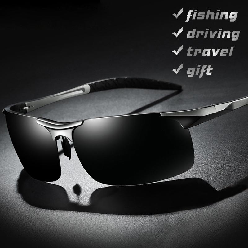 Dropshipping 2019 Hot Aluminum Men Polarized Sunglasses Aviation HD Driving Sun Glasses Male Goggle UV400 Polarised Eyewear