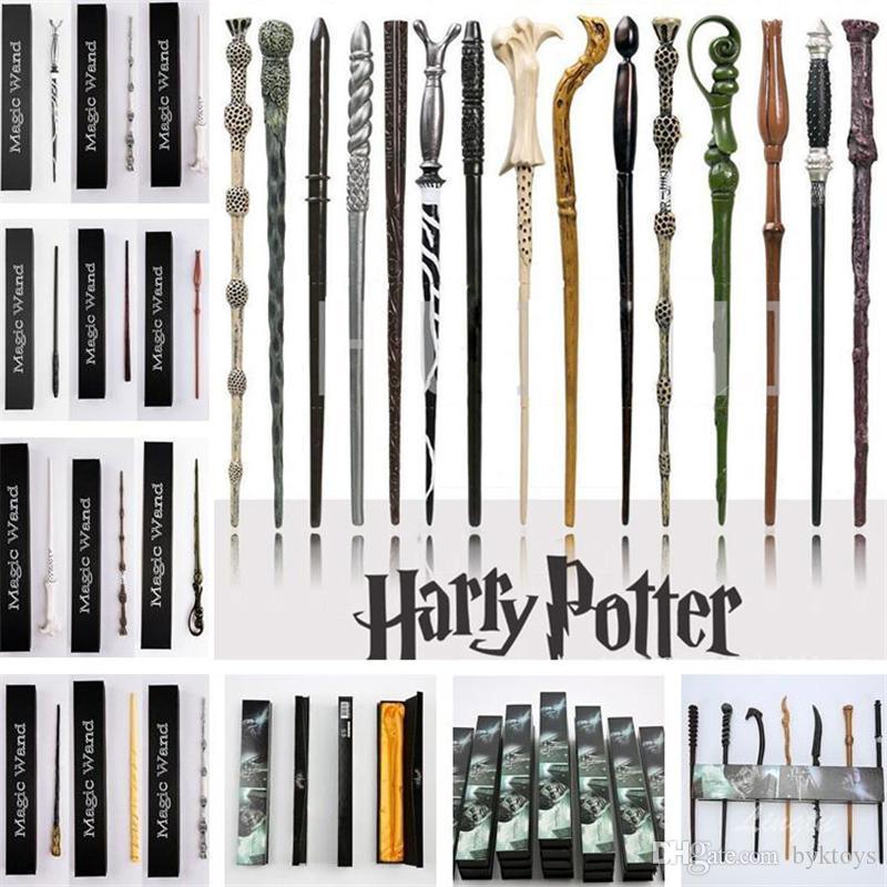 41 Styles Harry Potter Magic Wand Hermione Voldemort Hogwarts Wand Creative Party Cosplay Props With Gift Box