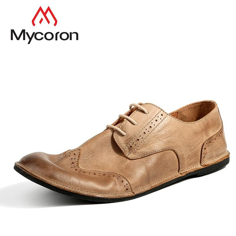 4aa91777ef9ab MYCORON New Arrivals Men Boots England Trend Casual Shoes Minimalist Design  Male Leather Dress Shoes Men Zapatos Hombre Mens Sneakers High Heels From  ...