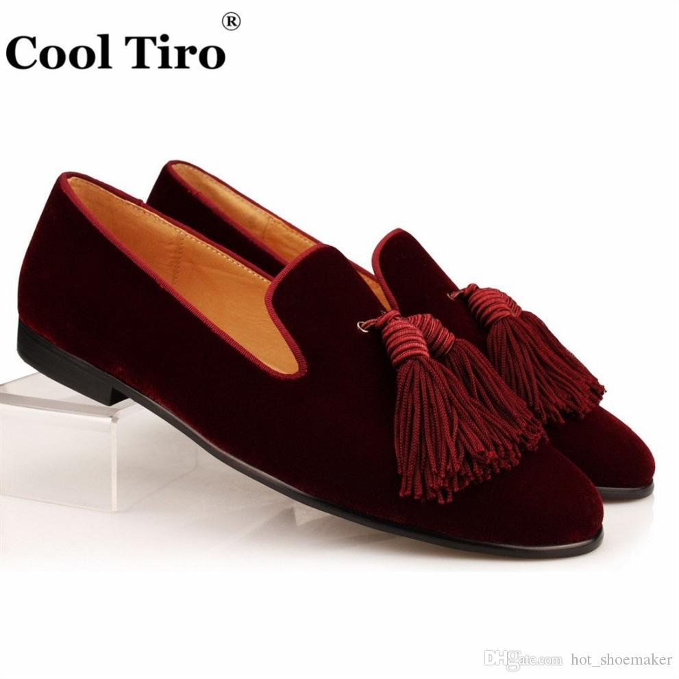 Genuino Novio Casual De Zapatos Zapatillas Boda Cool Vestir Borla Hombre Hombres Mocasines Tiro Terciopelo Cuero nXwON0P8k