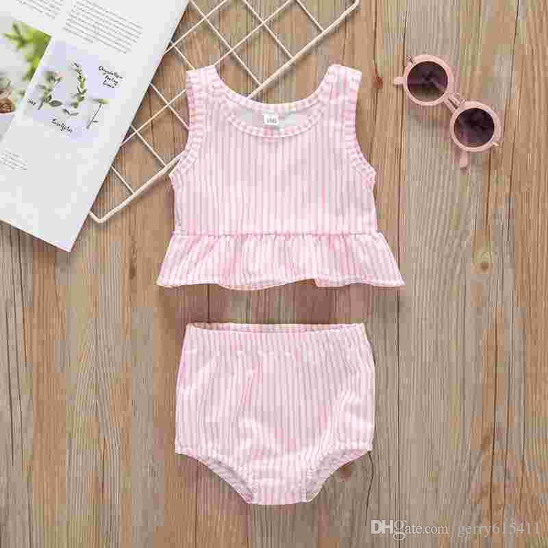 4fef4a682 2019 2019 Hot Sale Baby Swimwear Kid Girls Striped Bikini Summer Fashion  Beach Swimsuit Clothes From Gerry615411, $10.26 | DHgate.Com
