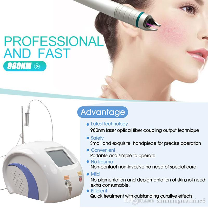 980nm vascular veins remove diode laser machine removal red blood vessels Linear angitelectasis portable 8 inch color touch screen 30W power