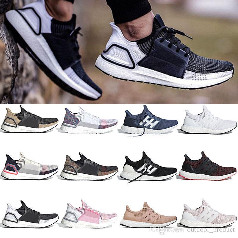 more photos 34dd7 019f6 36-47 Brand Ultra Boost 19 Running Shoes Men Women Designer Sneakers Black  Multi Color white Panda Oreo True Pink Ultraboost Sport Shoes
