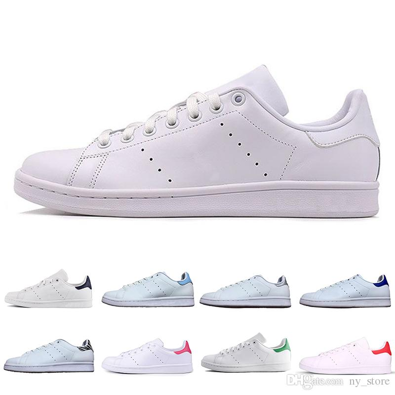best service 4ac79 36146 Cheap stan smith classic men woemn Casual shoes smiths Triple black white  red gold mens outdoor leather sports trainer sneakers 36-44