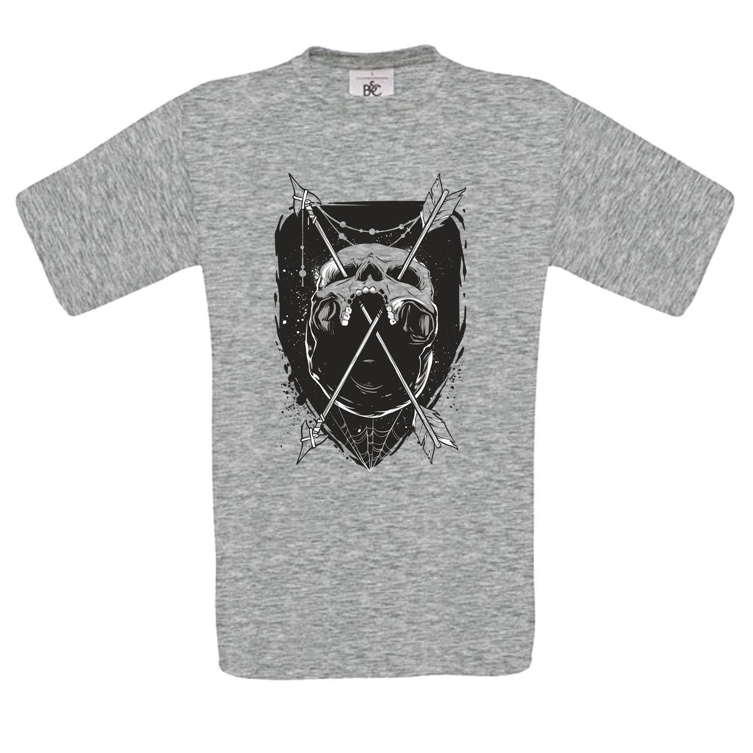 2f13b5822 NATIVE INDIAN SKULL ARROWS MENS Tshirt Tee Funny Unisex Casual Tshirt Top T  Shirts With Sayings Awesome T Shirt Designs From Thetoynation, $12.96   DHgate.