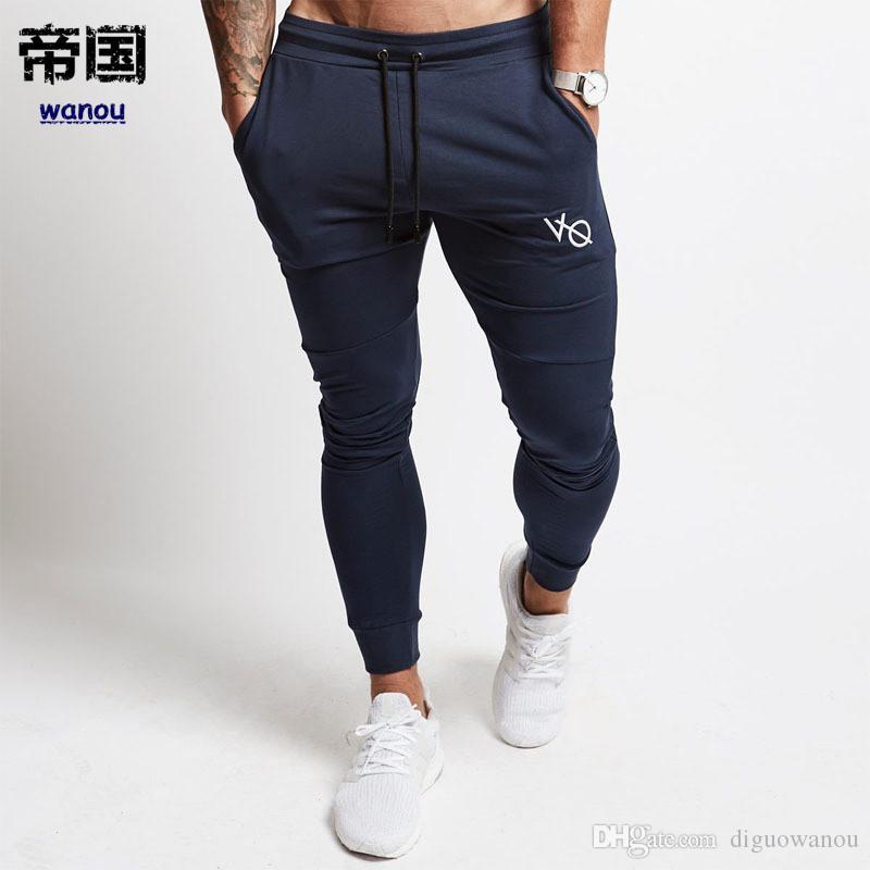 38368965a154 2019 Skinny Sport Leggings Men Running Sweatpants Sportswear Joggers ...