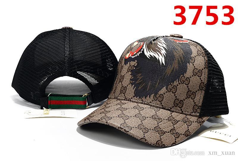 fb9d8bb24047 2019 nuevas gorras de béisbol masculinas y femeninas de alta calidad águila  abeja lobo patrón sombrero ajustable gorra de malla transpirable estilo ...