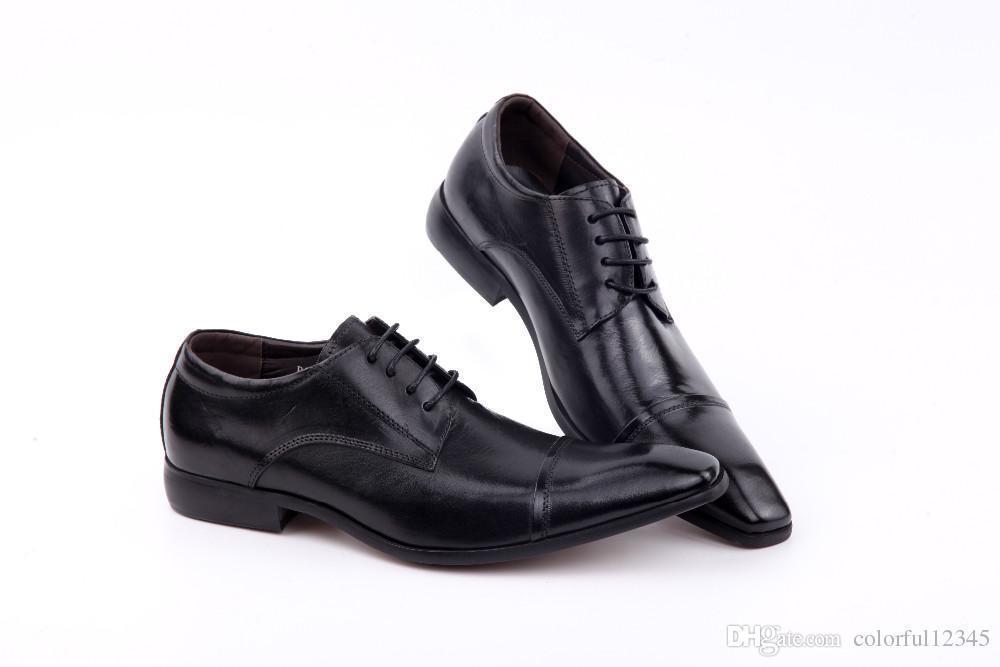 haute qualité super mignon produits chauds Sexy2019 Hommes Toe Lacets Oxford Dress En Cuir Formel Hommes Costume  Bureau Noir Chaussures