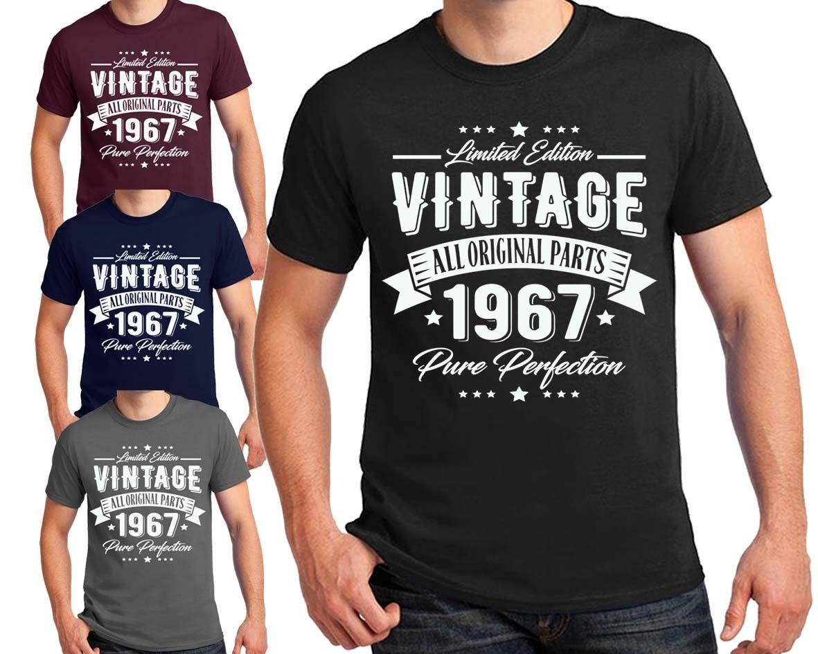 Vintage 1967 Perfection 50th Birthday T Shirt MenS Ladies Sizes Many Colors Funny Unisex Casual Online Designer From Themusicstore