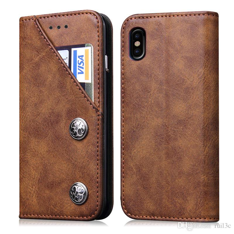 newest 41008 1a42c PU Leather Soft Bumper Cover Case designer phone flip cases Drop Resistant  Cover For iphone x 6 7 8 6plus 7plus 8plus