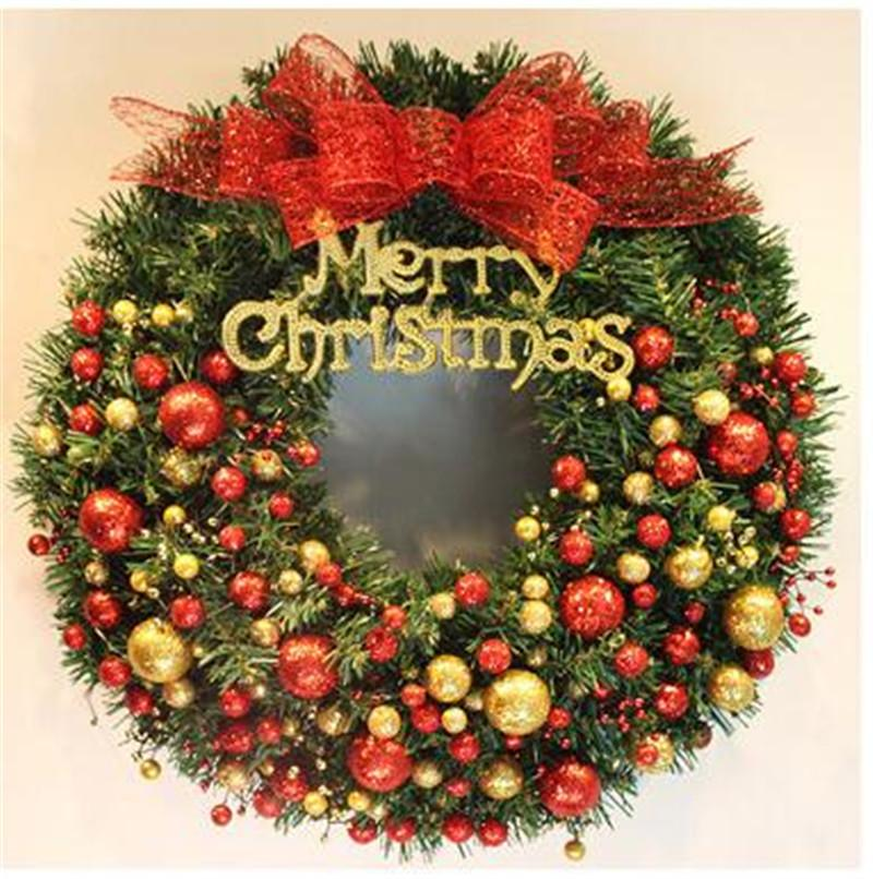 40cm Fashion Merry Christmas Wreath Garland Window Party Home
