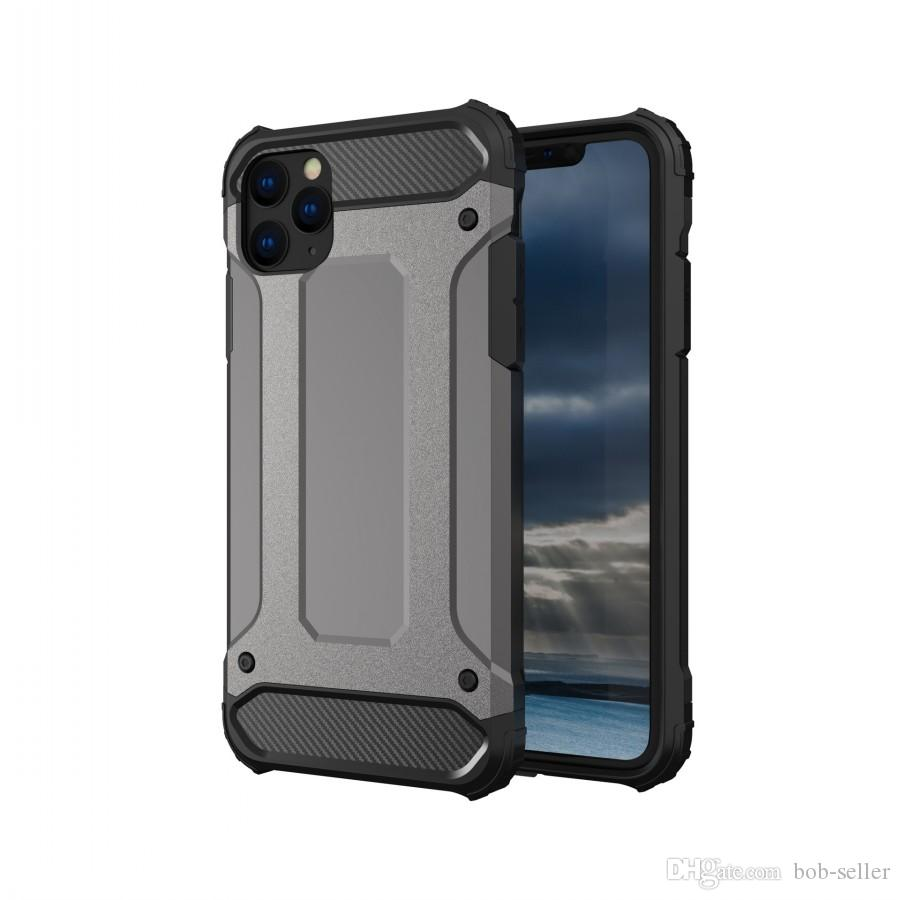 For Apple iphone 11 Pro Max Xs Max Xr 8 Plus X Shockproof Durable Armor Hard TPU PC Cell Phone Cases