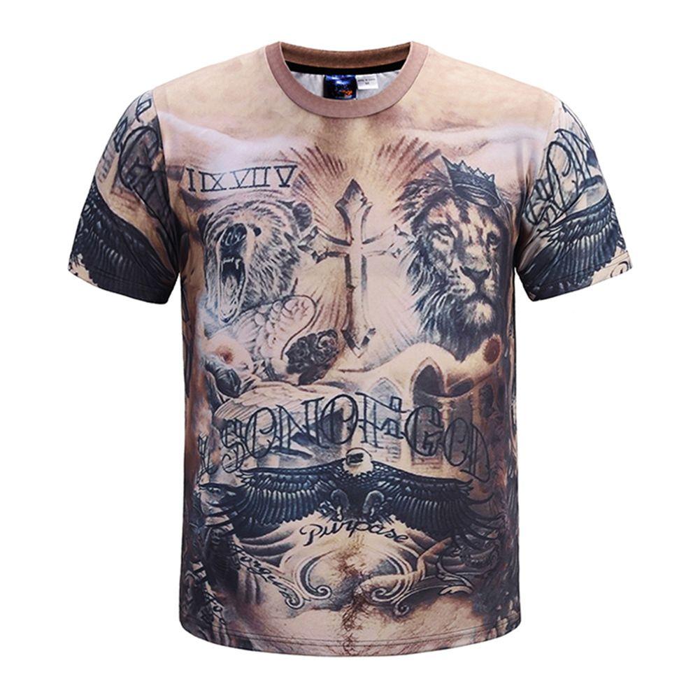 e894601c010 Compre Camiseta De Manga Corta Con Cuello Redondo