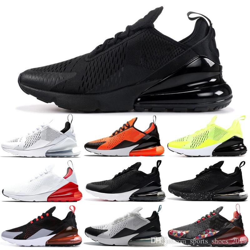Nike Air Max 270 Shoes Zapatos para correr Blanco Negro Guerreros Habanero Rojo Retroceso Futuro TFY Vibes Mujeres Hombres Entrenador Zapatillas