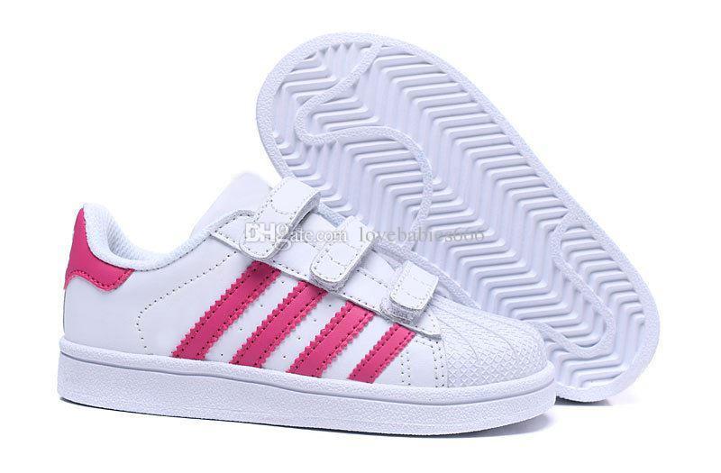 Adidas Superstar enfants chaussures garçons filles baskets 2018 printemps automne hiver nouvelle arrivée mode super star casual chaussures enfant