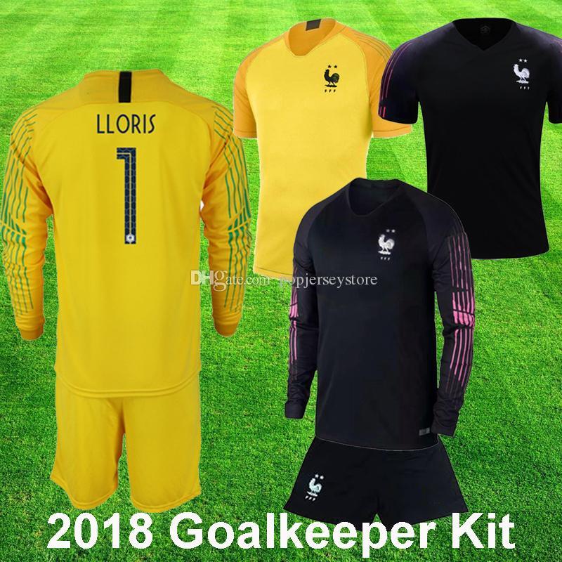 2406254a92f 2018 World Cup 2 Stars Goalkeeper Soccer Jerseys Hugo Lloris THAUVIN ...