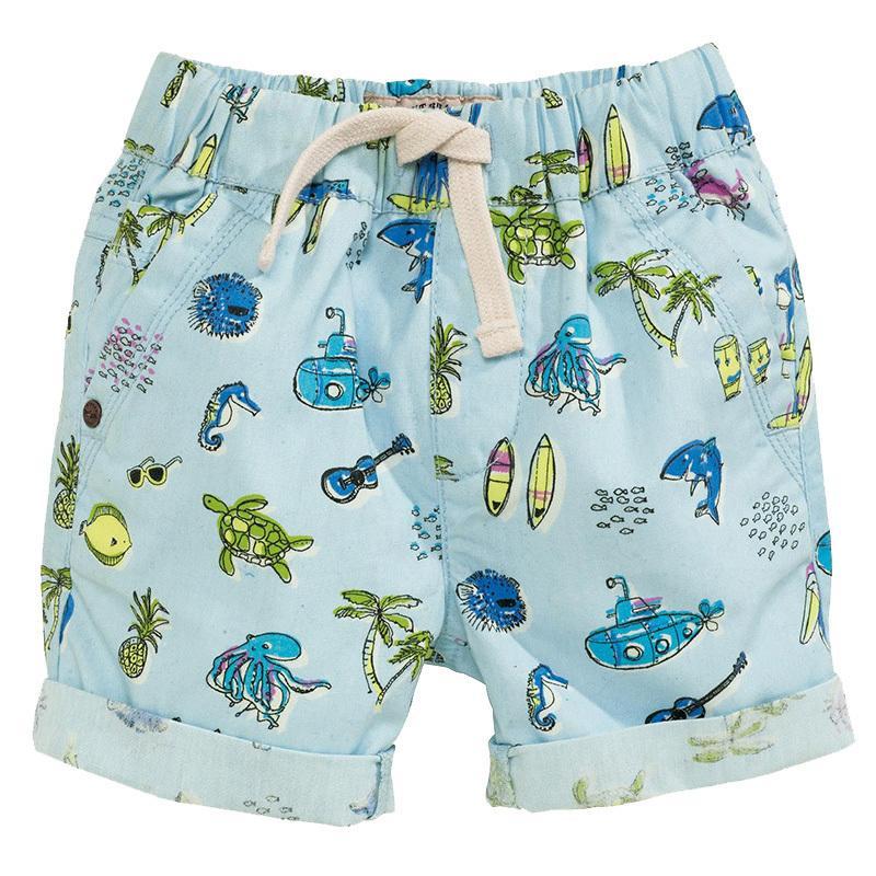 67fe94aaed8 Boys Shorts Kids Clothes 2019 Brand Children Summer Beach Shorts For Boys  Clothing Animal Print 100% Cotton Baby Boy Short Fille Boys White Chino  Shorts ...