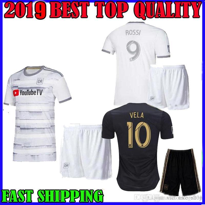 size 40 3aa93 e1a0d ADULT KIT 2019 2020 LAFC soccer jersey home away 19 20 MLS Los Angeles FC  KIDS VELA ROSSI Horta BLESSING FEILHABER Diomande football shirt