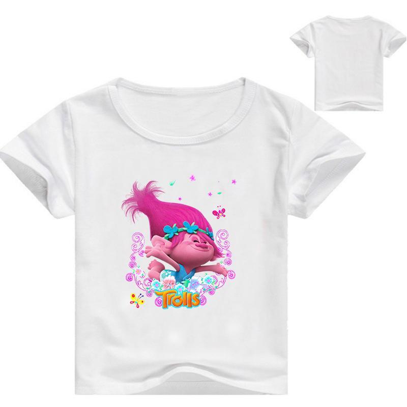 Acquista Ragazze Stampa T Abiti Bambini Animato Shirt Troll Cartone Yyb6gvf7