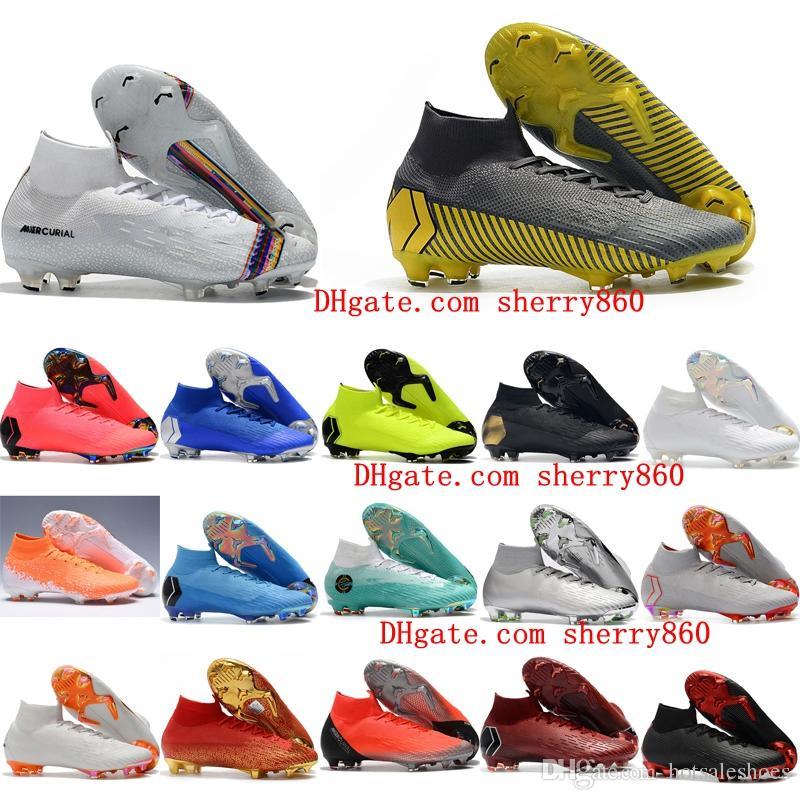 61c95b84e6c 2019 2019 Mens Soccer Shoes Mercurial Superfly VI 360 Elite CR7 Neymar FG Soccer  Cleats Crampons De Football Boots SuperflyX Ronaldo Orange From ...