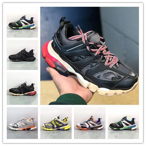 2020 luxury casual shoes track triple s paris black blue