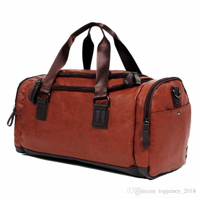 2019 Men S PU Leather Gym Bag Women Training Bags Duffel Travel Luggage  Tote Handbag Male Classic Soft Sport Bag Outdoor Shoulder  171427 From ... 648259ae45b2b