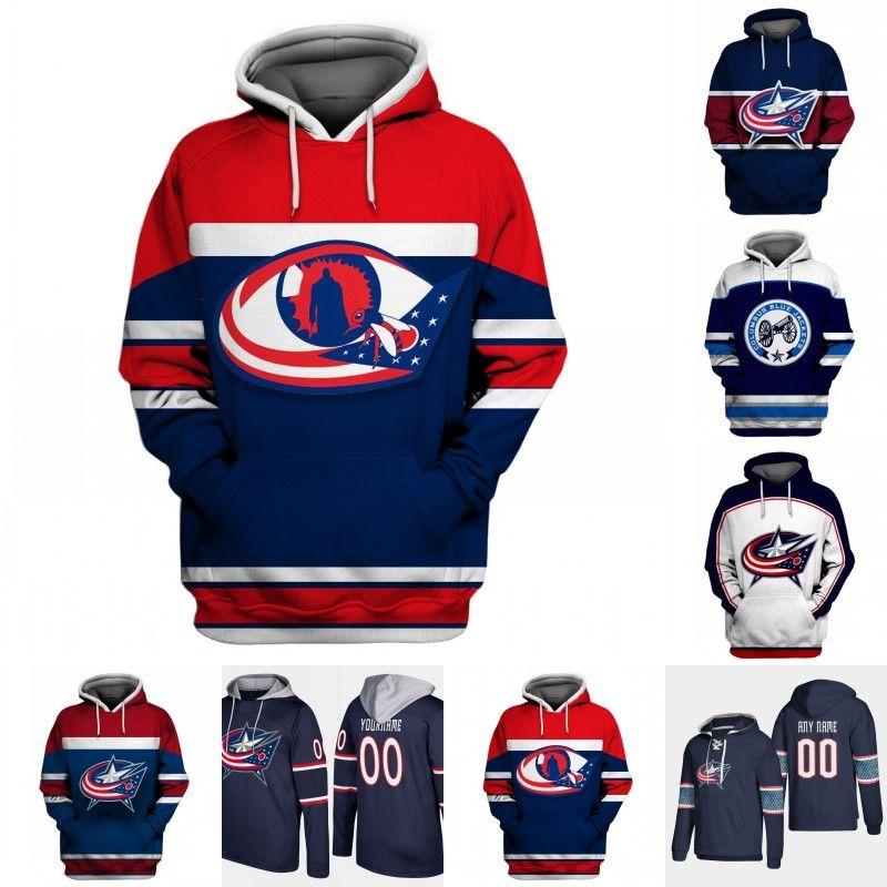 buy online d7f3d a1c77 Columbus Blue Jackets Hoodie Jersey Mens 3 Seth Jones 8 Zach Werenski 13  Cam Atkinson 71 Nick Foligno 72 Sergei Bobrovsky Hockey Jerseys