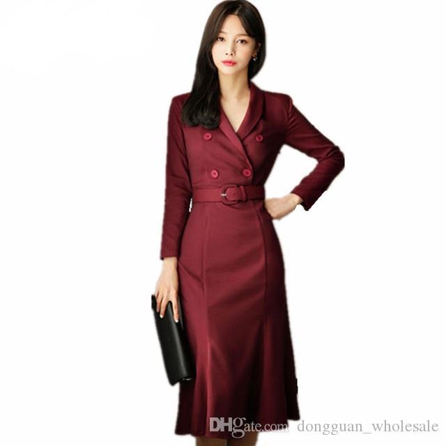 High Quality Newest Fashion 2019 Designer Korea Dress Women S Long