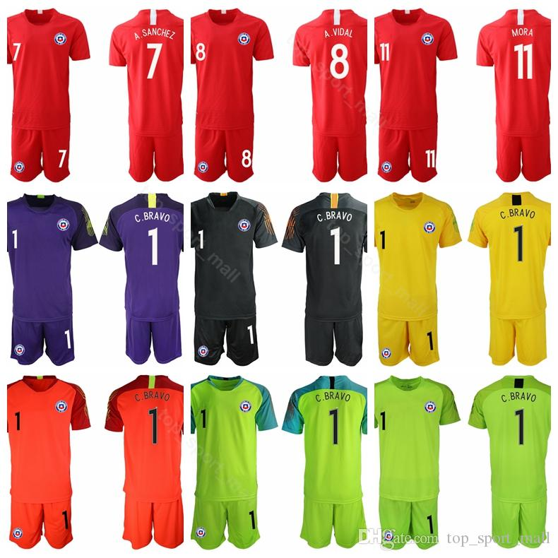 ca20500c002 2019 Chile 2019 Soccer 7 Alexis Sanchez Jersey Men Sets 8 Arturo Vidal 11  Eduardo Vargas 17 Gary Medel Football Shirt Kits Uniform From  Top sport mall