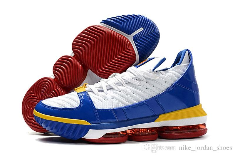 03b9e617d87 2019 New Style Lebron 16 SB SuperBron Men Basketball Shoes Trainer Good  Quality White Varsity Red Royal Blue James 16 Mens Athletic Sports From ...