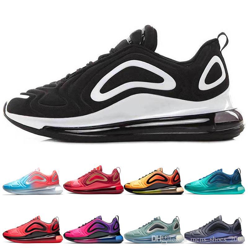 acheter pas cher 85979 6834c nike air max 720 shoes Noir Blanc Chaussures De Course Pour Hommes femmes  designer Sunrise Sunset Northern Lights Carbone Gris Or Rouge Mer Forêt ...