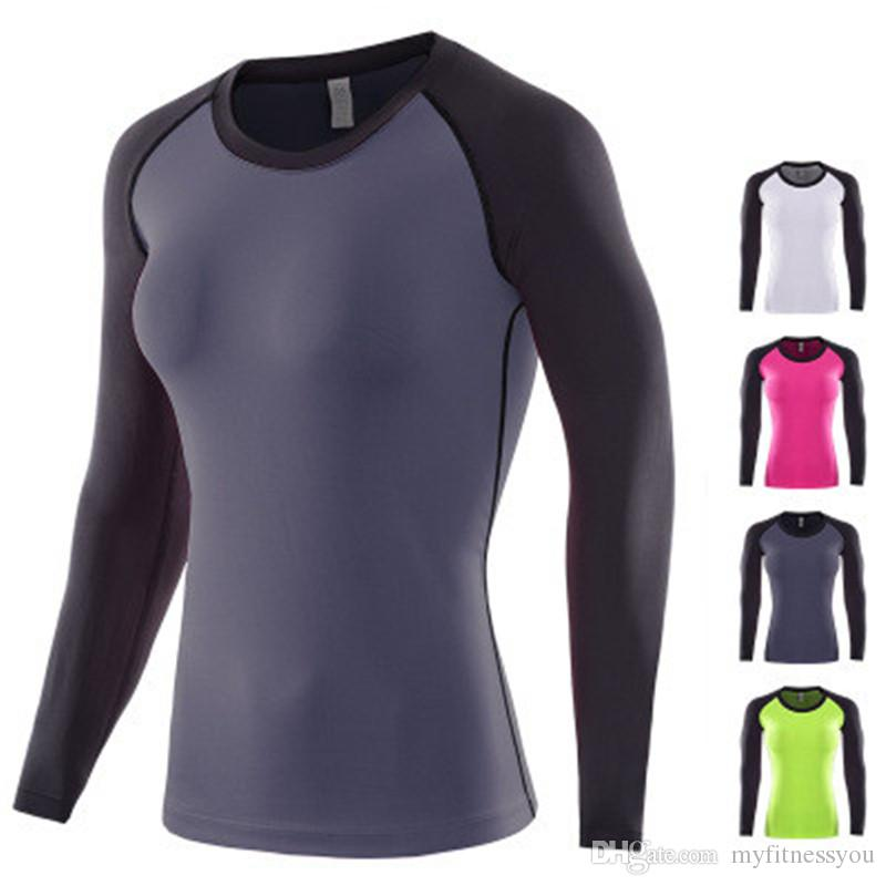 1abd3cc63 2019 New Women Sports Tights Yoga Shirts Workout Fitness T Shirt Workout  Yoga Top GYM Wear Long Sleeve Running Jogging Exercise Athletic Clothing  From ...
