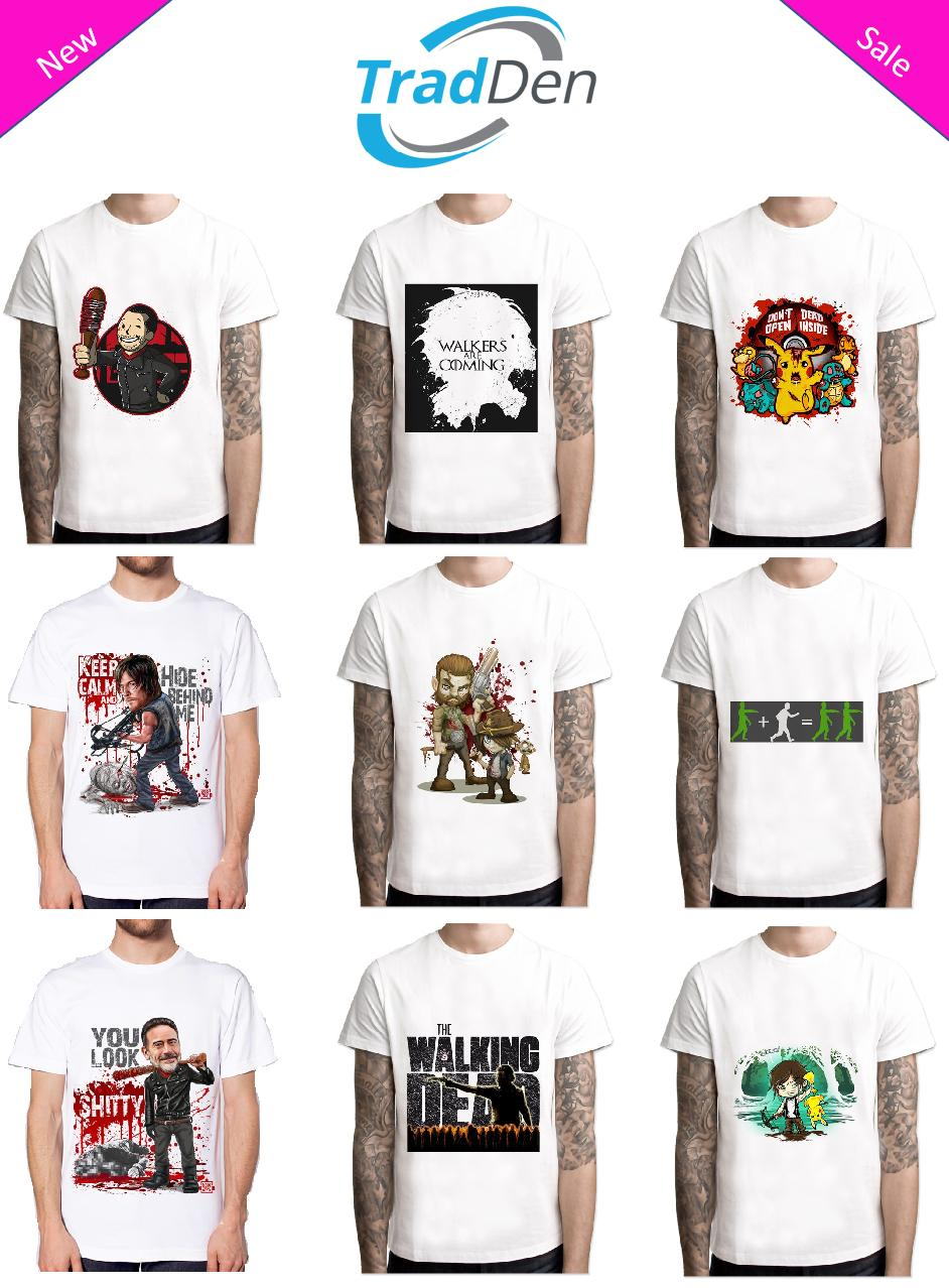 32ef05ba New T-Shirt Men/Women 3D High Quality Clothes Awesome Walking Dead Fashion  White Style Round Style tshirt Classic Quality High t-shirt