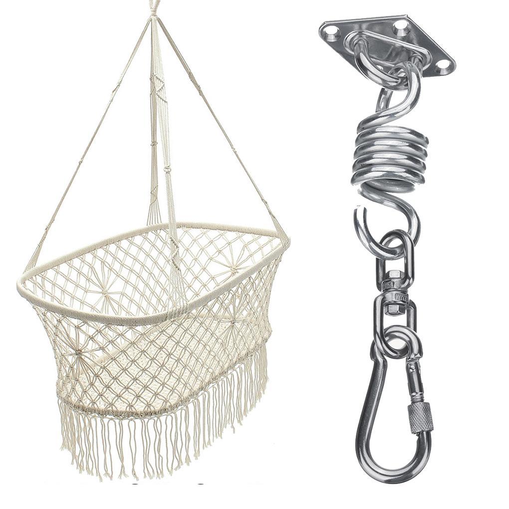 2019 Stainless Steel Hammock Chair Hanging Kit Spring Rotating