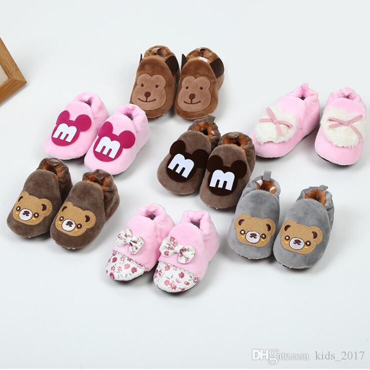 07e2c4417270c Cartoon Baby Shoes Cute Newborn Boys Girls First Walkers Flats Soft Sole  Non-slip Shoes Footwear Toddler Booties