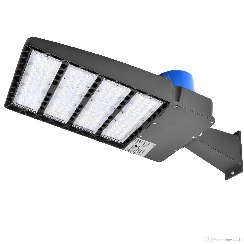 300w led parking lot lights 36000lm daylight 5000k led shoebox pole light with photocell waterproof ip65 led street light lamp