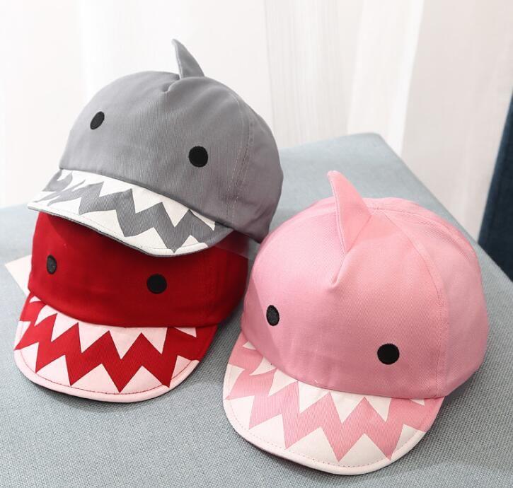 de4ade44473 Cute Shark Baby Hat Adjustable Baseball Cap Kids Hat For Girls Spring  Summer Toddler Hats Baseball Caps KKA6790 Custom Trucker Hats Compton Cap  From ...