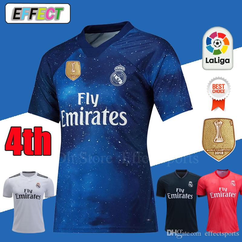 2019 New 2019 Real Madrid 4th EA Sports Soccer Jerseys 18 19 Home MODRIC  MARCELO 2018 3rd VINICIUS JR KROOS ISCO ASENSIO BALE Football Shirts From  ... 3bc4b2fde